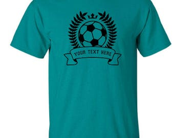 Soccer Banner Sports Adult Unisex Tshirt