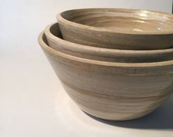 3 in 1 candy stripped bowls