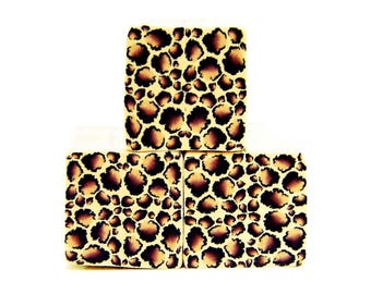 Polymer clay leopard cane: Raw polymer clay cane, Cane supplies, Leopard cane ,Animal print cane, Supplies for jewelers