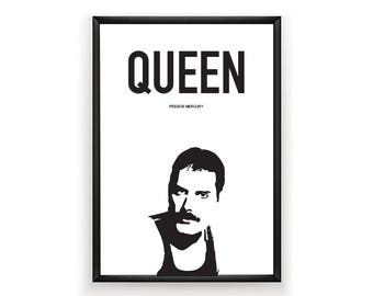 Freddie Mercury Printable, Queen Printable, Queen Print, Celebrity Poster, Celebrity Art, Instant Download, Digital Download, Wall Art,