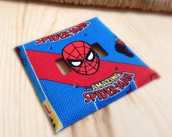 Spiderman Switchplate - Light Switch Cover - Outlet Cover - Kids Room Decor - Home Decor - Switch Covers - Switchplates - Outlet Covers