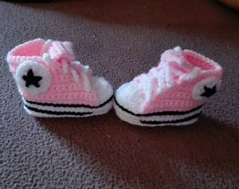 child Ballet shoe pink converse style