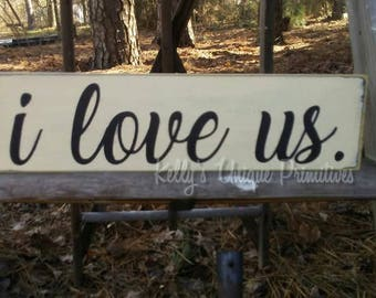 I Love Us Wooden Country Sign Home Decor Country Decor Rustic Decor Vintage Decor Farmhouse Decor