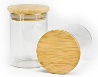 Stash jar with airtight silicone seal storage jar container.