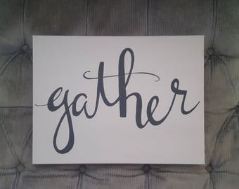 Canvas Art- Gather- Home Decor- Canvas Decor
