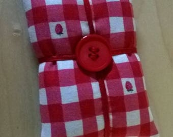 Pin Cushion, Red and White Checked