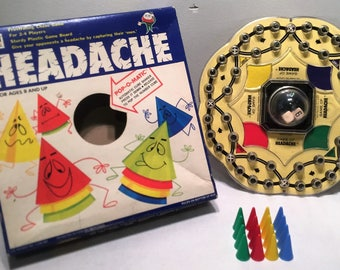 Headache by Gabriel 1968 Vintage Pop-O-Matic Game Complete Milton Bradley Great Condition Free Shipping