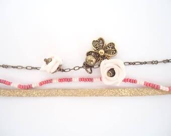 Cuff Bracelet, Bronze gold/rose
