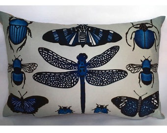 Little Blue Bugs Cushion
