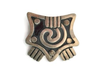 Signed Maricela  Sterling Silver Taxco Brooch