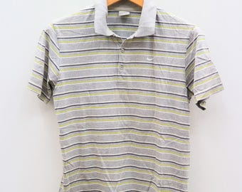 Vintage NIKE Small Logo Sportswear Gray Polos Shirt Size S