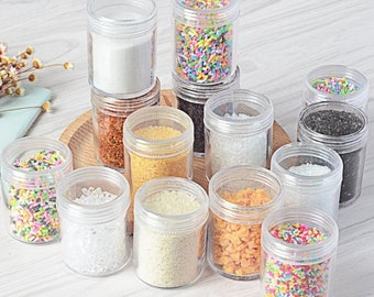 3 Styles Fake Sugar Sprinkles Topping Decoration For Miniature Clay Foods Faux Cake Crafts Or Decoden - DTS06