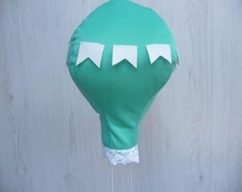 Hot air balloon baby nursery decor,single hot air balloon,baby room decor,girl nursery hanging,hot air balloon mint