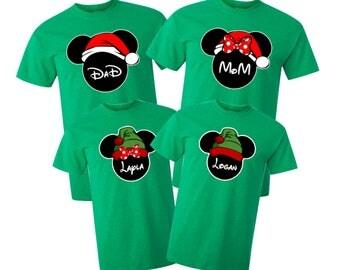 Disney Christmas Family Shirts/Disney Family Matching Shirts/Custom Disney Shirts/Mickey Mouse/Minnie Mouse Santa and Elfs