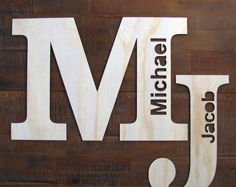 CUSTOM NAME PLAQUE for a baby nursery, kids room as wooden wall sign, decor