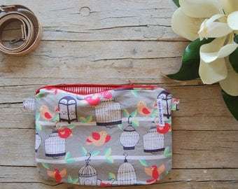 shoulder bag with cotton aviaries