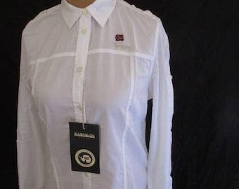 Napapijri white shirt size L to-51
