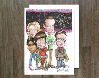 The Big Bang, Eco Friendly, Cult Caricature Greeting Card
