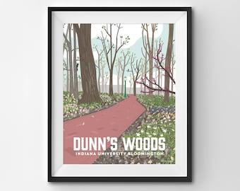Indiana University Dunn's Woods   Bloomington Campus   Hoosier   IU Poster   Bloomington Indiana