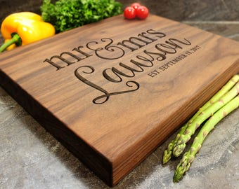 "Personalized Chopping Block 12x15x1.75"" - Engraved Butcher Block, Custom Chopping Block, Housewarming Gift, Wedding Gift #36"