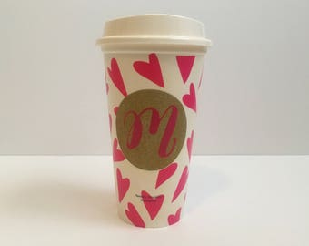 Heart Initial Travel Cup