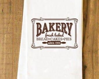 Farmhouse Kitchen Decor/Flour Sack Towel/Bakery/Farmhouse/Kitchen/Towel
