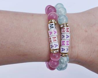 "7"" beaded Mama bracelet 1pc"