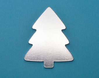 Aluminium stamping blanks, 5x, CHRISTMAS TREE (1.5mm depth), metal blanks, hand stamping blanks, stamping blanks, metal stamping, xmas gift