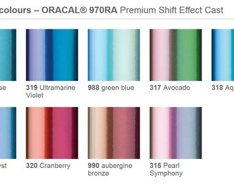 Vinyl 970 Color Shift - Permanent Vinyl - Decal Vinyl - Outdoor Vinyl