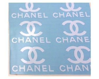 "Set 12 Chanel 1.5""- 5"" designer inspired  stickers /  decal  sticker logo autocollant"