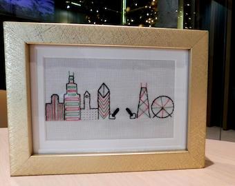 Chicago Christmas Skyline