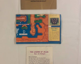 Original Nintendo Legend of Zelda Manual & Paperwork