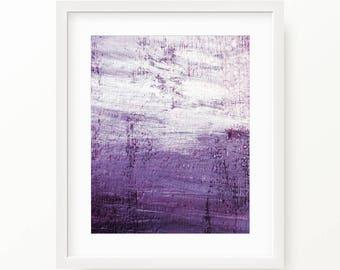 Purple Abstract Wall Art, Purple Abstract Digital Print, Printable Abstract Art Purple Brush Stroke Print, Purple Art, Purple Decor Abstract