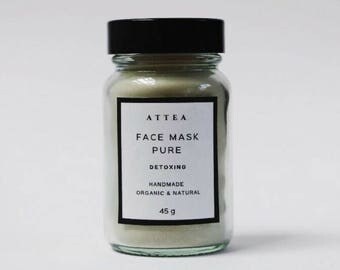 Detox face mask, clay mask, vegan face mask, acne treatment, facial mask, radiant skin, gift for her, facial mask, glowing skin, handmade