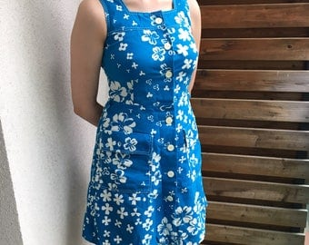 Merry Finn Finnish vintage summer dress, Scandinavian design S-M