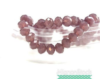 Beads washers - acrylic, plum - acrylic bead (Dimensions: 8 mm)