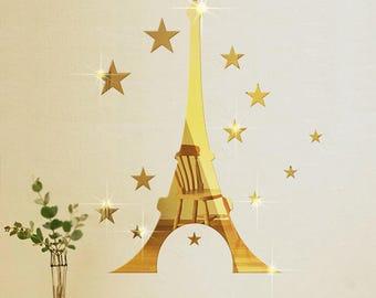 Eiffel Tower, Eiffel Tower Decor, Eiffel Tower Mirror, Paris Decor, Paris Wall Art, Home Wall Decor, House Wall Decor, Housewarming Gift,