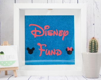 Disney drop box frame, disney fund, money box, micky mouse, minnie mouse, handpainted, children's gift