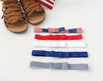 Patriotic Elastic Headbands (pick 3)