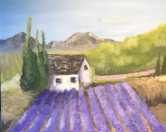 Lavender Dreams - Original Gouache Painting by Delaney Wenos