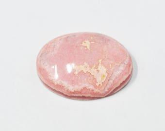 Rhodochrosite Oval cabochon - 78.30 carats - 25x34x8 mm - Oval Cabochon - Loose gemstone