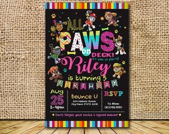Paw Patrol Invitation, Paw Patrol Birthday, Paw Patrol Party, Paw Patrol Card, Paw Patrol Printable, Paw Patrol Invites, Paw Patrol_BS495
