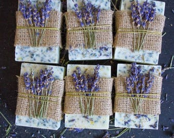 WEDDING SOAP FAVOURS/ Lavender soaps/Rustic style/Gifts/