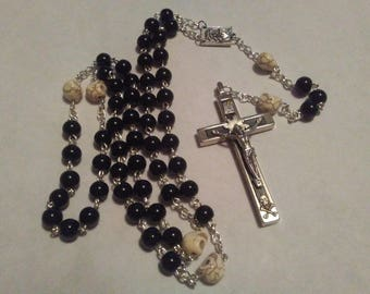 Beautiful Happy Death Rosary Handmade by a Benedictine Monk of Our Lady of Fatima