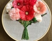 """6"""" Wildflowers - Hand Embroidered Florals"""