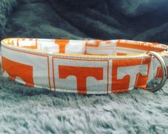 Handmade Tennessee Volunteer Dog Collar