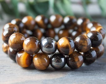 Couples Bracelets His and Her Long Distance Relationship Tiger Eye Bracelet Luminous Matching Bracelet Distance Bracelet Gay Couple Bracelet