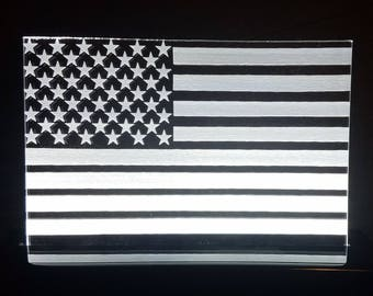 American Flag Edge Lit Sign