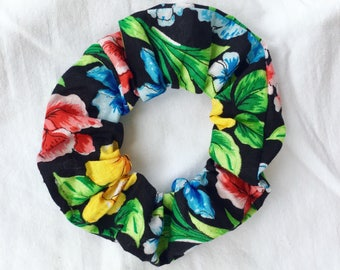 Tropical Flower Scrunchie