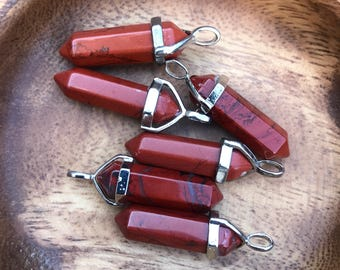 Red Jasper Pendant for Grounding Red Jasper Pendant Necklace